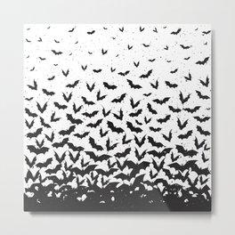 Halloween flying bats  Metal Print