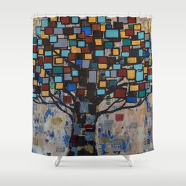 :: Stained Glass Tree :: Shower Curtain