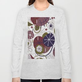Active Wear Abstract Pattern Long Sleeve T-shirt