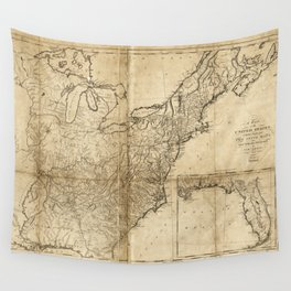 Map of the United States (1809) Wall Tapestry