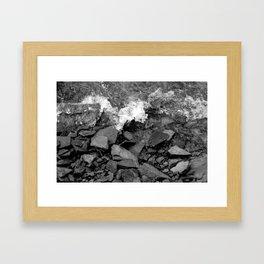 Black Water Framed Art Print