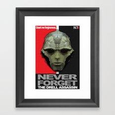 NEVER FORGET - Thane Krios - Mass Effect Framed Art Print