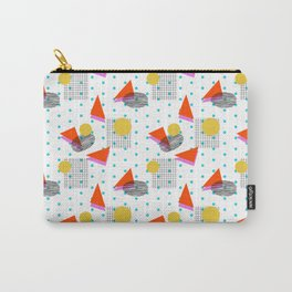 Bounce - abstract minimal retro throwback 1980s grid circle shapes memphis design pattern print art Carry-All Pouch