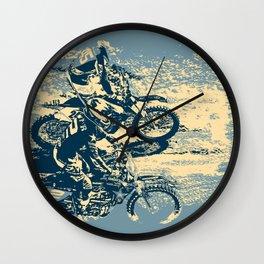 Dirt Track - Motocross Racing Wall Clock