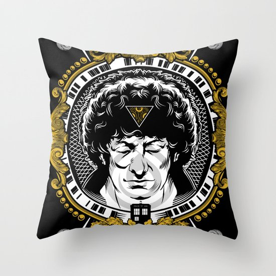 4th Doctor Throw Pillow