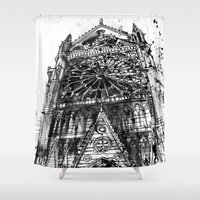 takmaj Shower Curtains featuring Notre Dame by takmaj