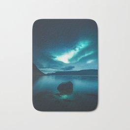 Aurora Borealis (Northern Polar Lights) Bath Mat