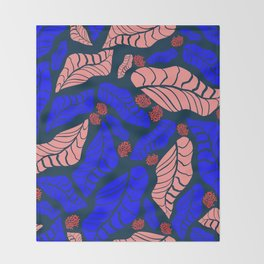 Bright bold floral designs for fashion and home Throw Blanket