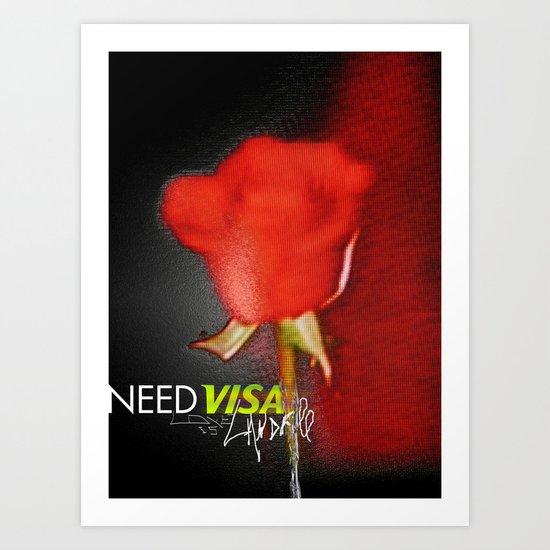 the rose escape Art Print