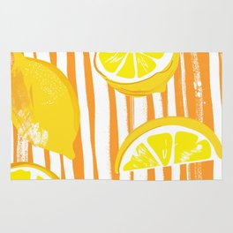 Lemon Stripe Pattern Rug