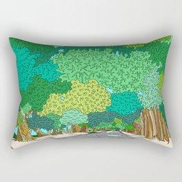 Banyan Tree Driveway Rectangular Pillow