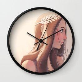 Laurel wreath Wall Clock