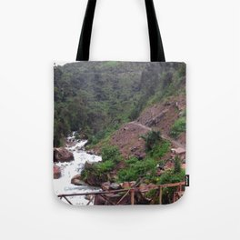 Alpine Bridge Adventure Tote Bag