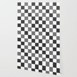 Slate & Gray Checkers / Checkerboard Wallpaper