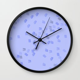 Light blue puzzle Wall Clock