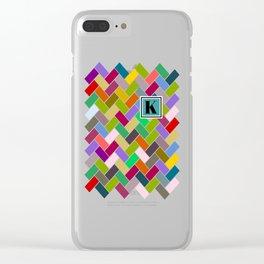 K Monogram Clear iPhone Case