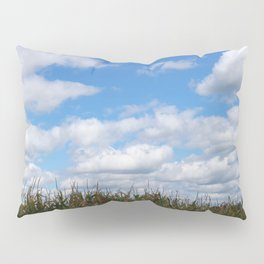 """Corn field in autumn with """"popcorn"""" clouds Pillow Sham"""