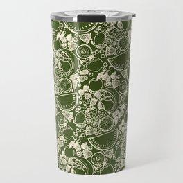 Fruit Print Green Travel Mug