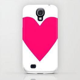 Neon Pink Heart iPhone Case