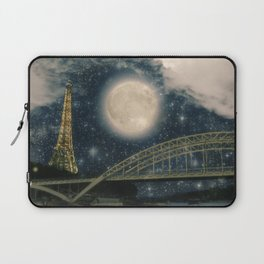One Starry Night in Paris Laptop Sleeve