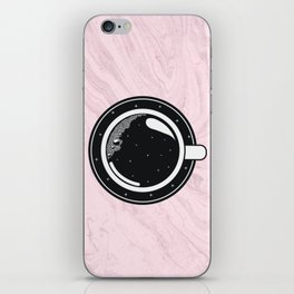 Cup of coffee with stars iPhone Skin