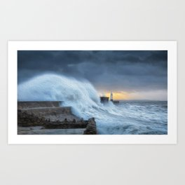 Hurricane Brian with oil painting effect Art Print