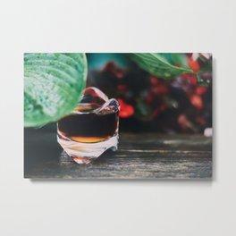 Leaf and Coffee Metal Print