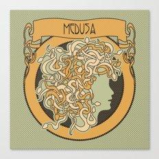 medusa silhouette (light) Canvas Print
