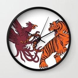 Cocks vs Tigers Wall Clock