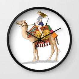 Woman on a Camel Wall Clock
