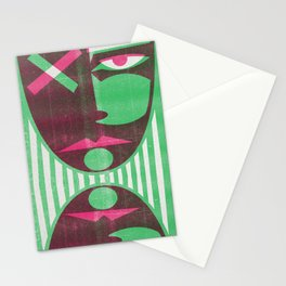 Two tone mask Stationery Cards