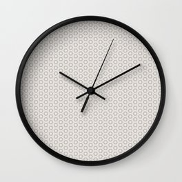 Hexagon Light Gray Pattern Wall Clock