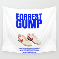 movie poster Wall Tapestries featuring Forrest Gump Movie Poster by FunnyFaceArt