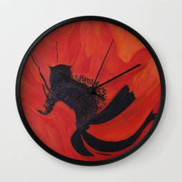 Dancing Poppy Wall Clock