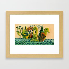 Unspecific Things in the Pacific Timezone Framed Art Print