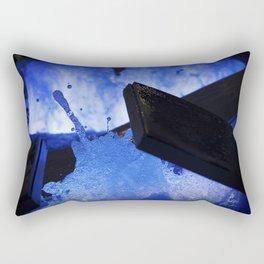 Blue Middle Finger Rectangular Pillow