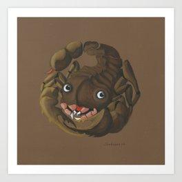 Scorpio (brown) Art Print
