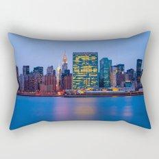 Beginning of the night over Manhattan Rectangular Pillow