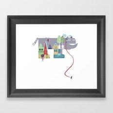walking beast Framed Art Print