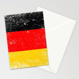 Flag of Germany Grunge Stationery Cards