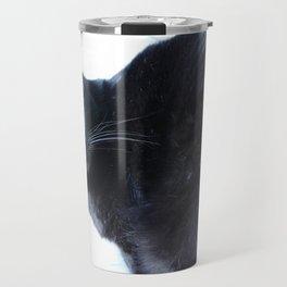 Simon the Black Halloween Sanctuary Cat Travel Mug