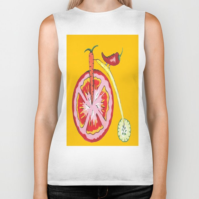 Kitchen Vegetable Art Biker Tank
