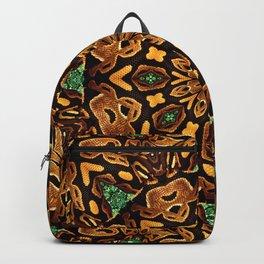 Ball Python Mandala with Green Diamonds Backpack