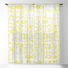 Asymmetry collection: sunny spots Sheer Curtain