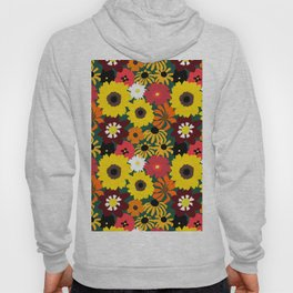Retro Fall Flowers Hoody