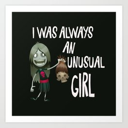Unusual Series - A Girl and Her Muse Art Print