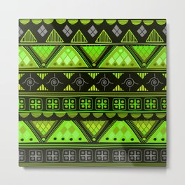 Boho Geometric Pattern Var. 10 Metal Print