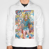supergirl Hoodies featuring Vintage Comic Supergirl by Dave Seedhouse.com