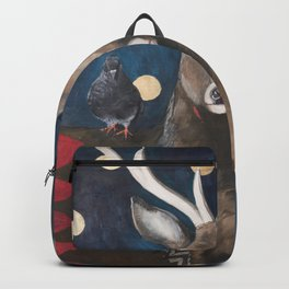 Stag with Tubbs and Goose Backpack