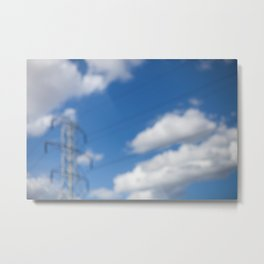 HOME: EARLY OCTOBER, CLOUDS & ELECTRICITY  Metal Print